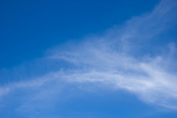 Blue sky with clouds. copy space.