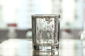 A glass of clean water.