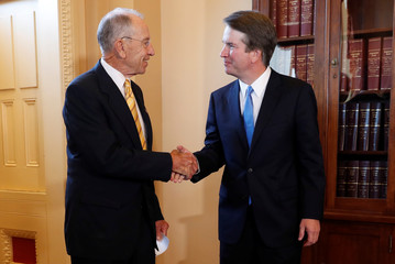 Senate Judiciary Committee Chairman Grassley meets with U.S. Supreme Court nominee Kavanaugh on Capitol Hill in Washington