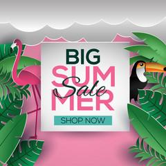 big summer sale sign template