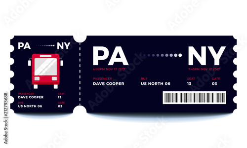 bus entrance vector tickets templates ticket for travelling in bus
