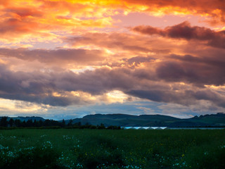 Sunset over Tayside