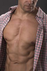 Super sexy male abs and torso