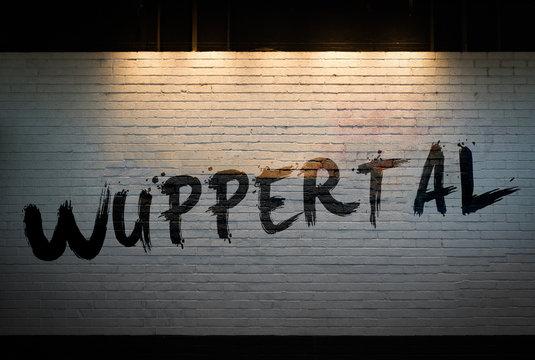 Wuppertal concept graffiti on wall
