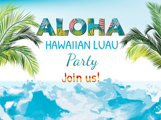 Aloha Hawaii. Best creative design for poster, flyer, presentation. Vector background.