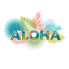 Aloha Hawaii. Aloha T-Shirt design. Best creative design for poster, flyer, presentation. Vector background.