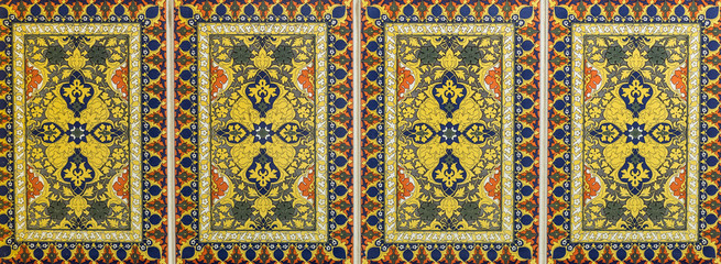 colored ceramic tile, Moroccan ornamental pattern