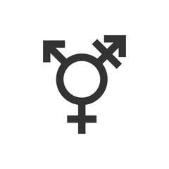 Transgender icon. Vector illustration, flat design.