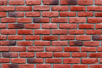 Red brick wall background texture.