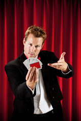 Magician: Ready to Do Card Trick