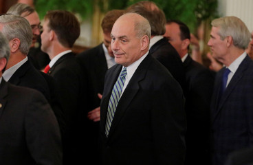 Chief of Staff Kelly arrives to watch President Trump announce Judge Kavanaugh as his Supreme Court nominee at White House in Washington