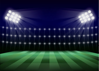 Soccer field concept background. Realistic illustration of soccer field vector concept background for web design
