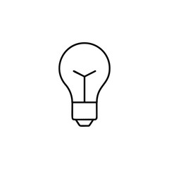bulb icon. Element of automation icon for mobile concept and web apps. Thin line bulb icon can be used for web and mobile. Premium icon