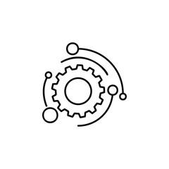 automation mark icon. Element of automation icon for mobile concept and web apps. Thin line automation mark icon can be used for web and mobile. Premium icon