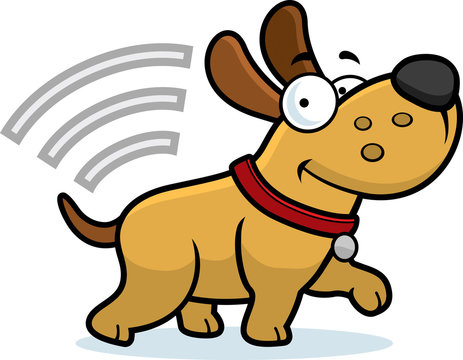 Cartoon Dog With Microchip
