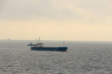 cargo ships in the sea