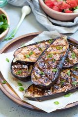 Grilled eggplant with Miso Glaze,nasu dengaku