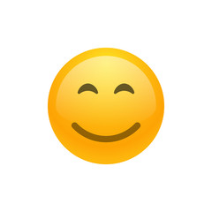 Smile face emoji vector icon