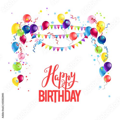 Happy Birthday Balloons Stockfotos Und Lizenzfreie Vektoren Auf