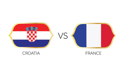 England versus France soccer match vector.