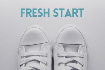 Fresh start and new beginning concept