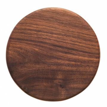 Handmade walnut round wooden pallet, wooden chopping board