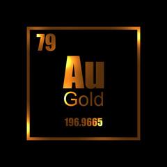 Gold chemistry molecula atom aurum