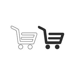 Shopping card vector icon