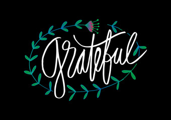 Grateful hand drawn card