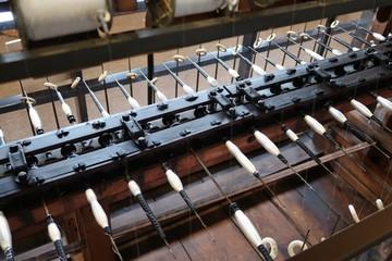 絹糸の紡績工場