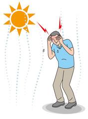 シニアの熱中症の症状 頭痛