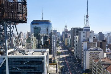Paulista avenue in Sao Paulo.