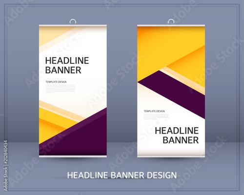headline banner template design fotolia com の ストック画像と