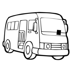van stock photos and royalty free images vectors and illustrations Hippie VW Bus cute bus cartoon illustration isolated on white background for children color book
