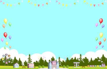 森の遊園地 パレード