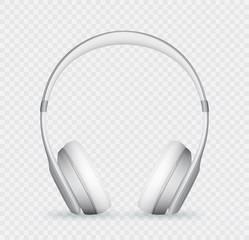 Vector realistic headphone