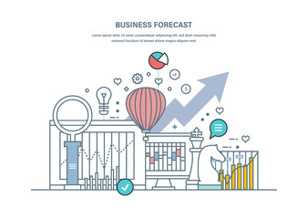 Business forecast. Data analysis, financial management report, market stats.