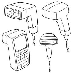 vector set of barcode reader