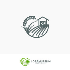 fresh farm logo template vector illustration