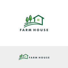 Farm house logo template vector illustration