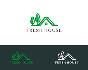 real estate logo template vector illustration