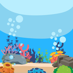 ocean background vector design