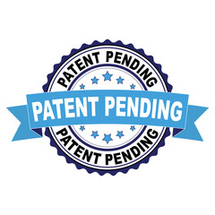 Blue black rubber stamp with Patent pending concept