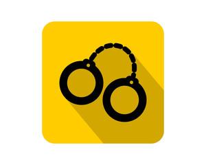 black handcuffs icon