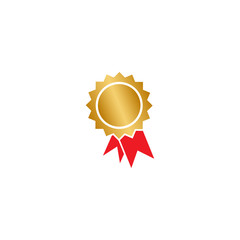 Certificate badge graphic design template