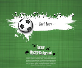 Grunge background. Soccer ball and football fans