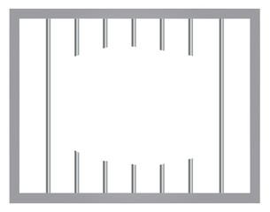 Window in prison with bars. Jail break vector eps 10