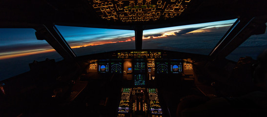 Tropical flightdeck sunrise