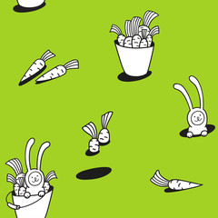 happy carrot day pattern