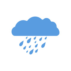 Rain cloud. Bad weather. Thoughts. Blue. For your design. An object. Icon.